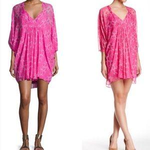 Diane Von  Furstenberg Fleurette Silk Shift Dress